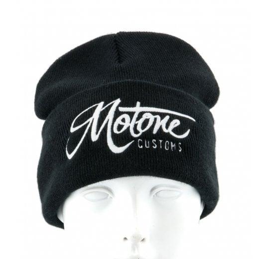 Motone Beanie - Black - Embroidered Motone Logo in White
