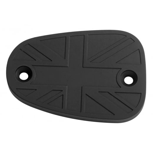 Motone Billet Disc Brake Oil Reservoir Master Cylinder Cap - Union Jack - Black