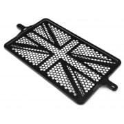 Billet Radiator Guard Kit - Union Jack - Black