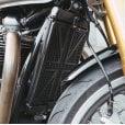 Motone Billet Radiator Guard Kit - Union Jack - Black