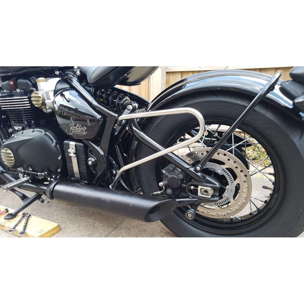 Motone Triumph Bonneville Bobber//Speedmaster Pannier//Luggage Bag Rails Black