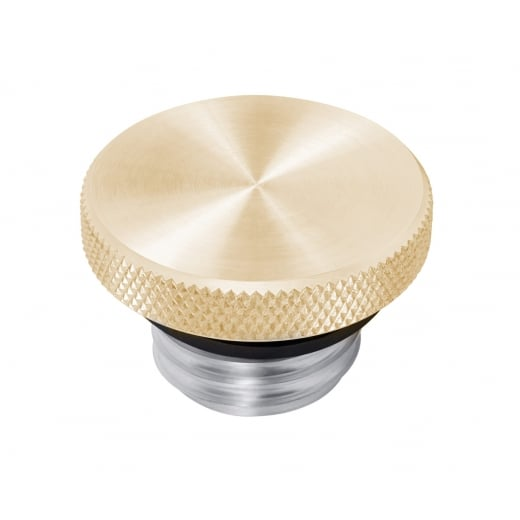 Motone Custom Fuel Gas Cap - Billet Brass and Aluminium - Spun Satin Finish