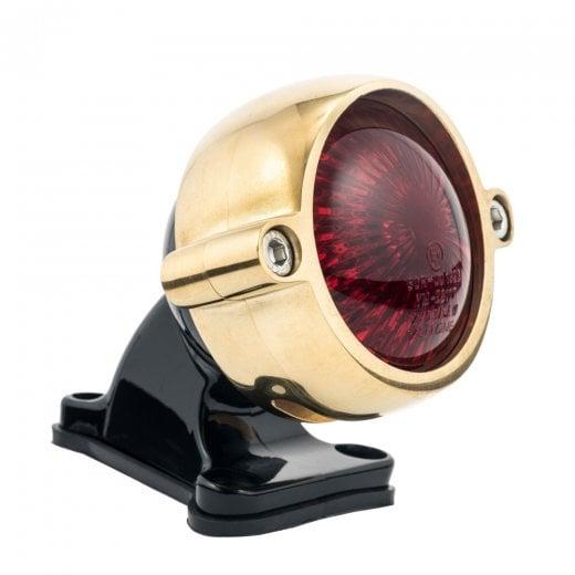 Motone Eldorado Tail Light + Fender Mount Kit - Brass Light/Black Bracket