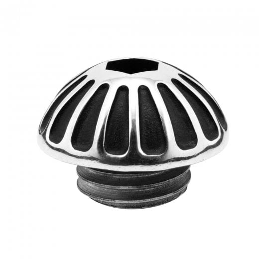 Motone Engine Oil Filler Cap - Roswell - Contrast Black/Polish