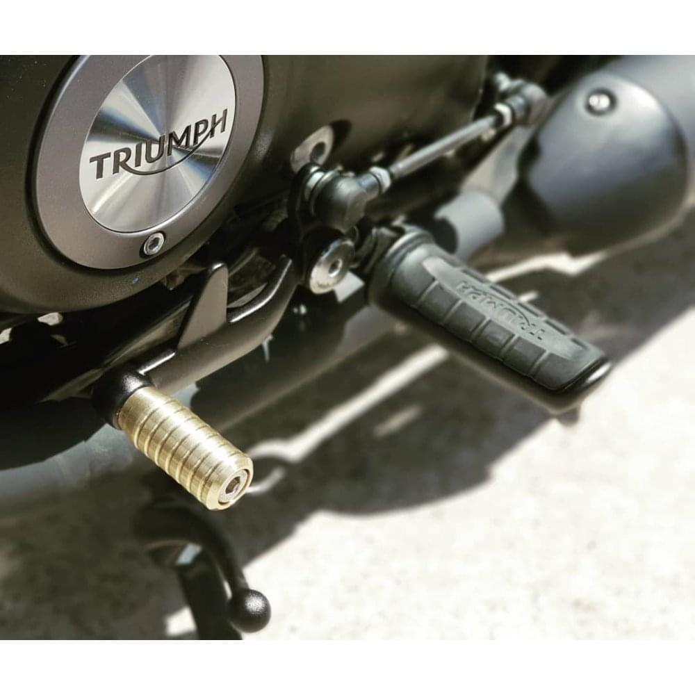 Motone Gear Shifter Lever End Peg Ribbed Brass Motone From