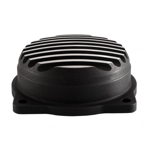 Motone HD CV Finned Carb Top Lid - Finned- Contrast Cut - Black