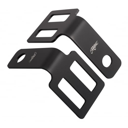 Motone Indicator Brackets - Under Seat Mount - Black