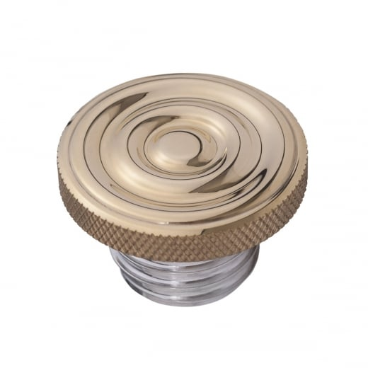 Motone Infinity Gas Cap - Brass Rippled Top - Aluminium Thread - Rippled