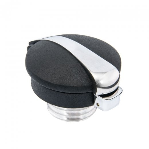 Motone Monza Cap Kit for Triumph and HD - Black/Contrast Polished