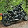 Motone Bedlam Slash-Cut Exhaust Pipes for Bobber/Speedmaster - Brushed