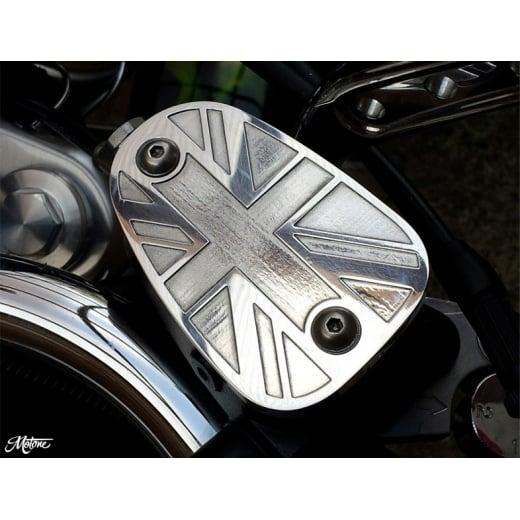 Motone Billet Disc Brake Oil Reservoir Master Cylinder Cap - Union Jack - Polish