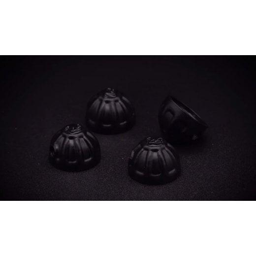 Motone Black Cylinder Stud Knuckles Caps