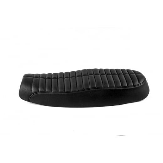 Motone Bonneville Dual Seat - Rattlesnake Tail - Black