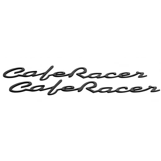 Motone Cafe Race - Petrol Tank / Side Panel Emblem Set - Black - Pair