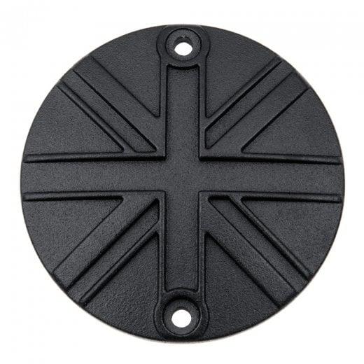 Motone Clutch Badge - Union Jack - Black