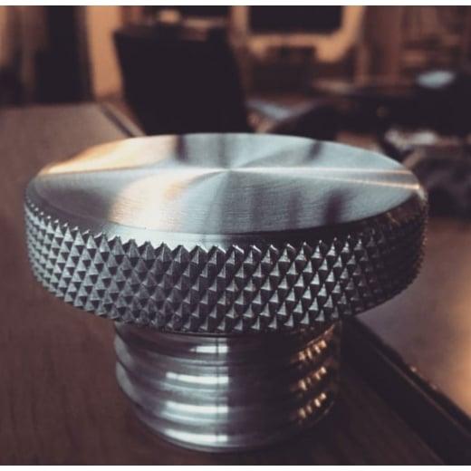 Motone Custom Fuel Gas Cap - Billet Aluminium - Spun Satin Finish