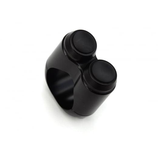 Motone Dual Micro Switch Button Housing - One Inch Handlebar - Black