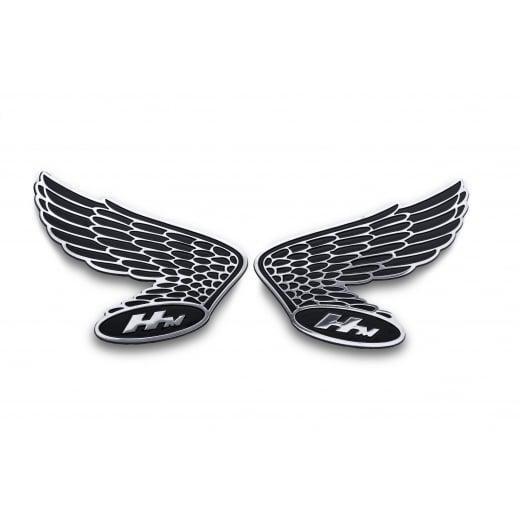 Honda Wings HM Fuel Tank/Side Panel Emblem - Pair - Billet