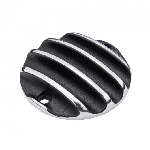 Motone Points ACG Cover - Ribbed - Black/Polished Rib Contrast Finish