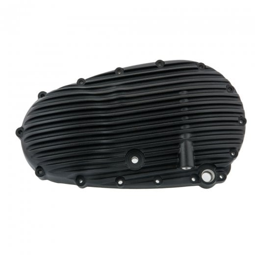 Motone Ribbed Clutch Side Engine Cover - Black