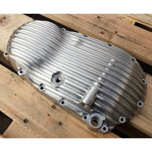 Motone Ribbed Clutch Side Engine Cover - Brushed