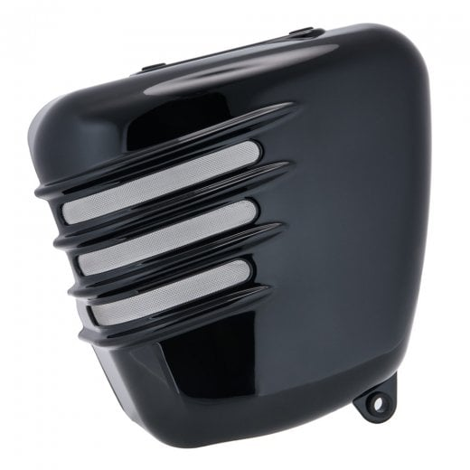 Motone Ribbed Side Panels - Gloss Black - LHS ONLY (Scrambler)