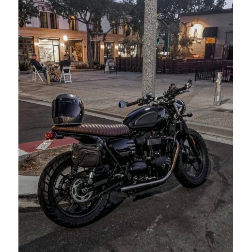The Viper- Low Profile Skinny Ribbed Seat - Tobacco Brown