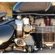 Motone TPS Carb/Throttle Body Cover - Pair - Union Jack - Black