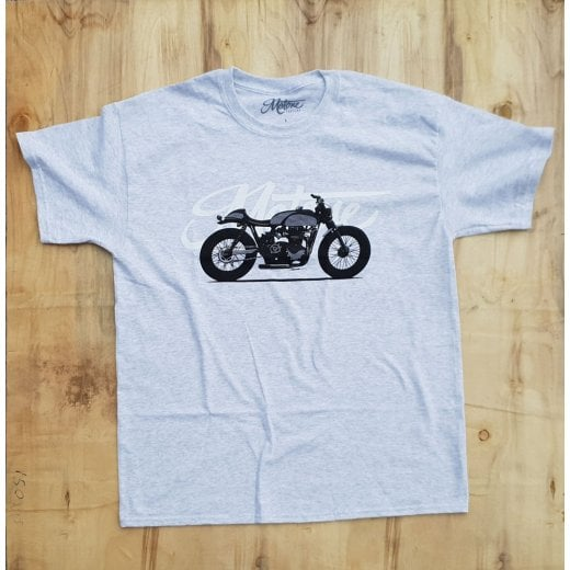 Motone x Brusco Cafe Racer T-Shirt - Ash Grey