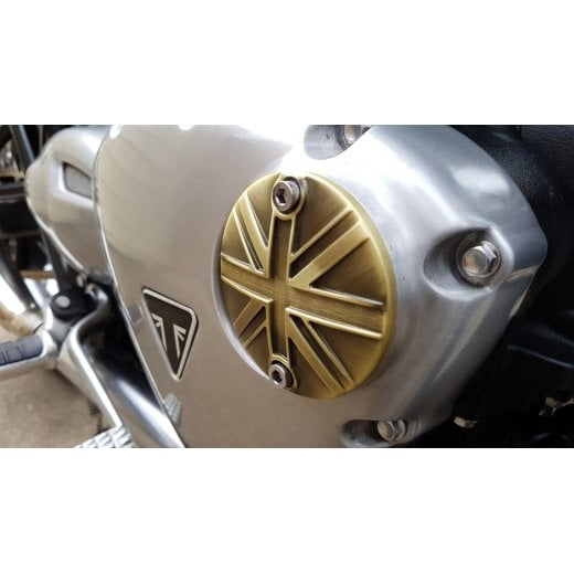 Motone Points ACG Cover - Union Jack - Brass Finish