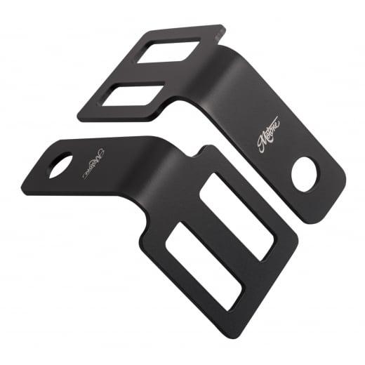 Motone Indicator Brackets - Under Seat Mount - Black