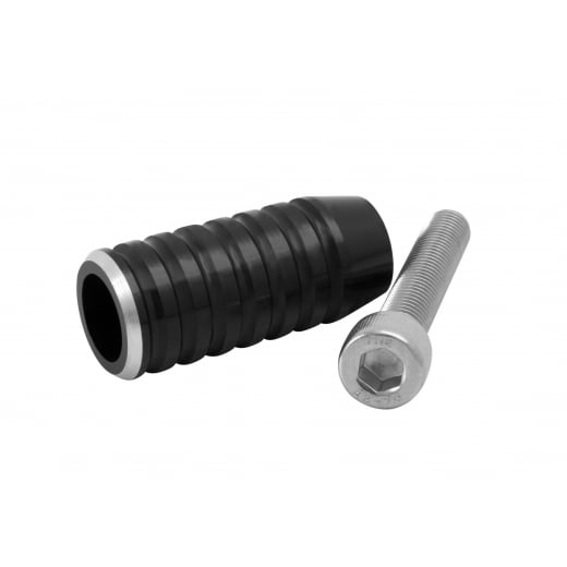 Gear Shifter Lever End Peg - Ribbed - Black