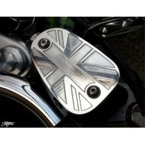 Billet Disc Brake Oil Reservoir Master Cylinder Cap - Union Jack - Polish