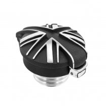 BlackJack Union Jack Monza Cap Kit for Triumph and HD - Contrast Polished