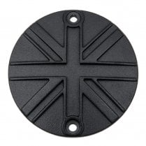 Clutch Badge - Union Jack - Black
