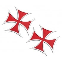 Maltese Cross - Red - Billet