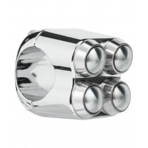 "The Quad Micro Switch Button Housing - 22mm 7/8"" Handlebar - Chrome"