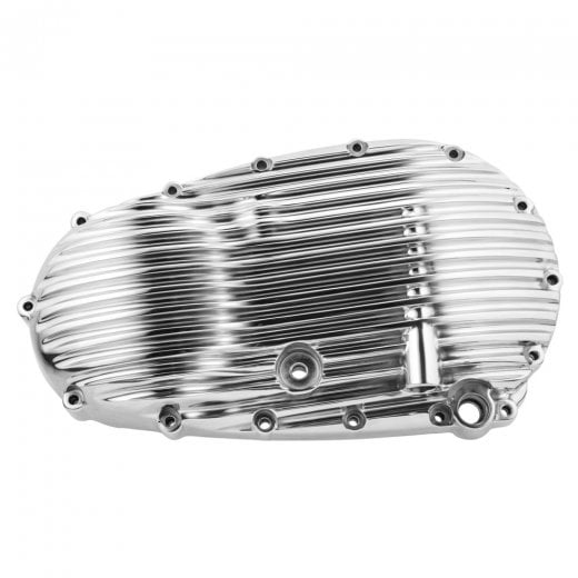 Motone Ribbed Clutch Side Engine Cover - Polish