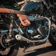 Motone Saturn V - Exhaust System - Street Twin - Brushed