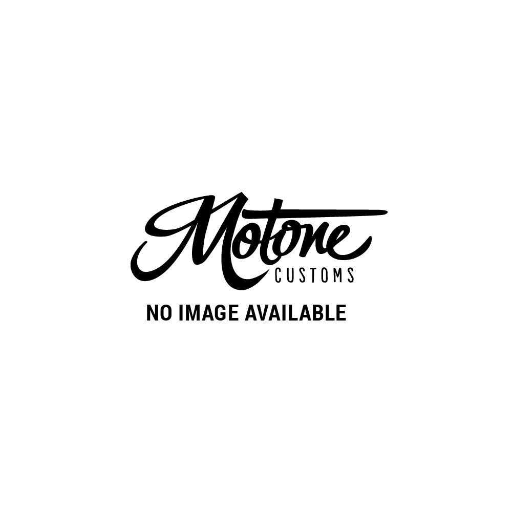 Motone Shorty - Bobbed Front Mudguard/Fender- Spoke Wheels - Brushed Aluminium