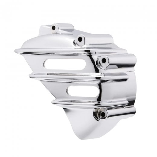 Motone Sprocket Cover - Ribbed - CHROME - AC