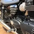 Motone Street Twin - Ribbed Side Panels - Gloss Black