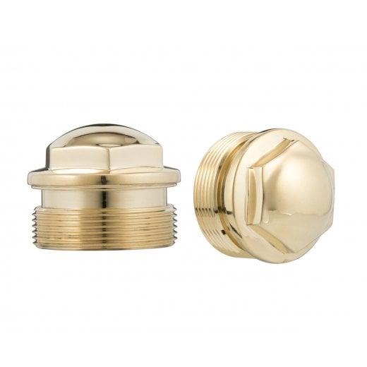 Motone The Guvnors - Fork Top Caps Pair - Late Street Twin & Street Scramber, All T120 -Brass